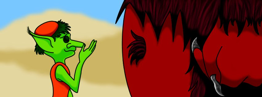 Barrique und eine Bestie (gezeichnet von Maria Schramm)