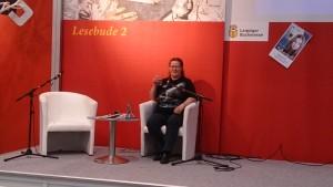 """Petra Schmidt vor ihrer Lesung aus """"Silberwolf"""""""